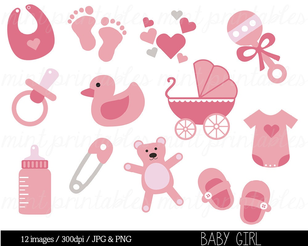 baby girl clipart shower - photo #9