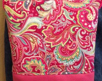 Pink paisley crossbody purse