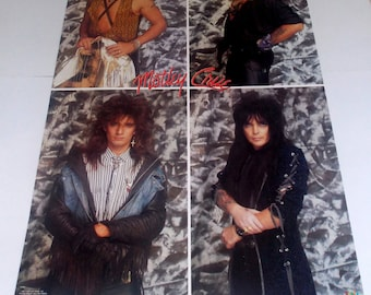 MOTLEY CRUE POSTER From 1987 Rare and Vintage!!