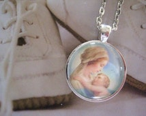 Precious Moments Necklace, mother and baby, infant loss, child loss, baby loss keepsakes, child loss jewelry, handmade, gift