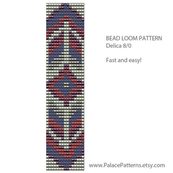 items similar to bead loom bracelet pattern 8 0 seed