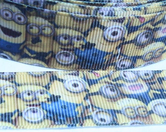 SALE****Yellow Guy 7/8 Inch Grosgrain Ribbon by the Yard for Hairbows, Scrapbooking, and More!!