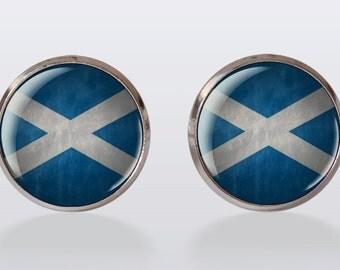 cufflinks Scotland flag cuff link,Vintage Cuff Links,scotland vintage flag cuffs, perfect gift, gift idea, men cuff links,vintage