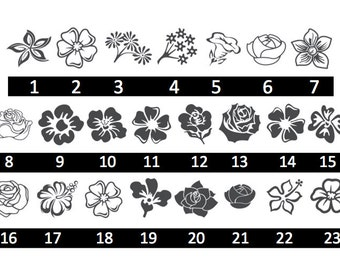 Beautiful Flowers - Tulips, Daisies, Roses, Lillies, Sunflowers, Violets - 23 Options - Home/Laptop/Computer/Phone/Car Bumper Sticker Decal