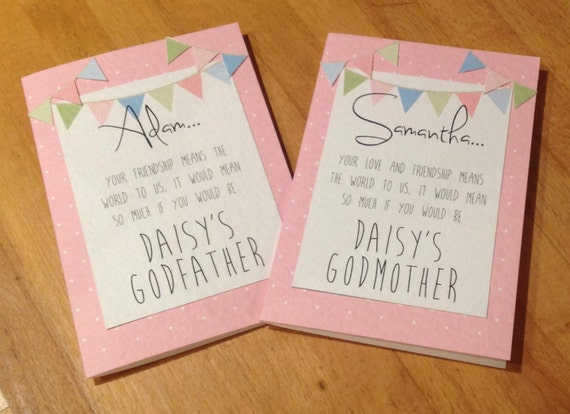 Personalised Handmade Will You Be My Godmother Godfather