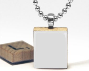 Digital Photo template for scrabble tile pendant with rolo chain on white background. Listing picture. Background. Jewelry template.  7_252