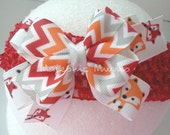 Boutique bow- Chevron- Woodland- Photo prop-  Baby headband- Toddler headband-EtsyKidsTeam-Animal Print- Childrens headband