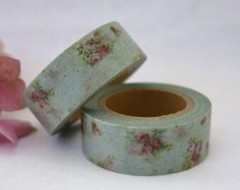Floral Washi Tape / Decorative Washi Paper Masking Tape  WT006
