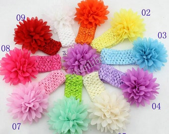 Chiffon Flower Headband Baby Headbands, Girl's Headband