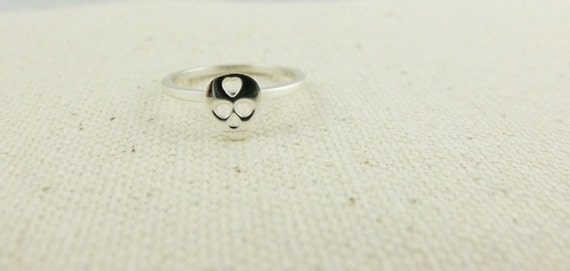 Love Skull Ring. Made of Recycled Sterling Silver in NYC -Eco Friendly
