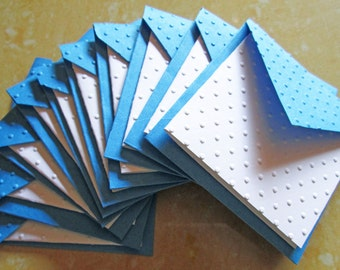 Mini Embossed Cards, Set of 10 / Note Card Set/ Thank You Cards/ Stationery Card Set/ Mini Card Set/ Wedding favor tags/ Lunch Box Notes
