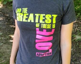 LOVE Adoption T-shirt Womens Juniors