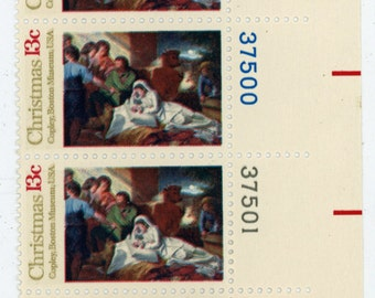 Six, Scott's  #1701  Year 1976, Nativity / Christmas 76, 13 Cent stamp.  Mint Un-used condition.     477a