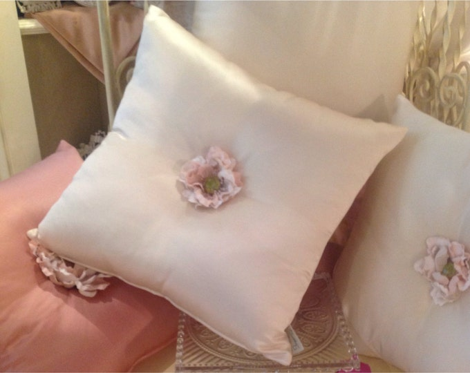 decorative pillow with flower