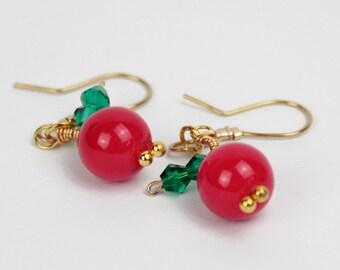 Cherries Earrings,  ZR07