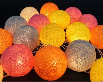 20 Lighting Mix Color Cotton String Lights Fairy lights Party Decor