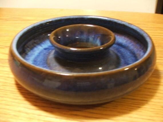 Vintage Mid Century Design German Drip Glaze Pottery Pansy