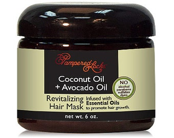 Coconut Oil + Avocado Oil Hair Mask ~ Essential Oils for Hair Growth ~ 100% Natural