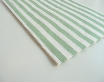 Big Light Green Stripes Paper Bags - Set Of 5 Bags