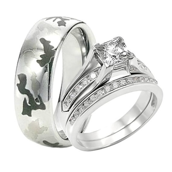 tungsten camouflage camo 8mm by weddingringsets