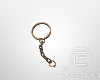 20 pcs of 25 mm Brozne tone Key Chain with Split Ring