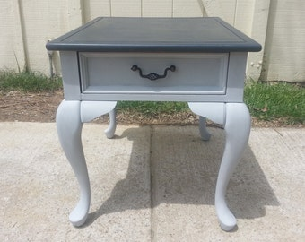Superb Wood End Table With Annie Sloan Paint