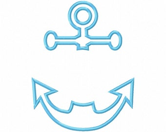 anchor monogram, embroidery pattern
