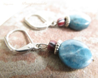 3058 - Earrings Ceramic and  Apatite