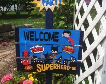 Superhero Birthday Yard Sign