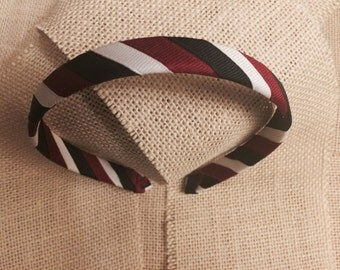 Patriotic Red, White and Blue Grosgrain Ribbon Wrapped Headband