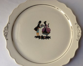 Early American Cake Plate by Harker