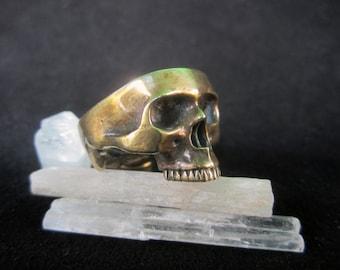 Brass Half Skull Pendant