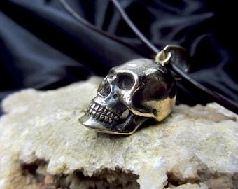 Small Brass skull pendant