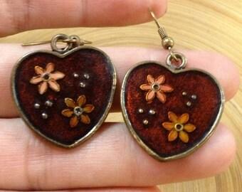 Cute Hearts,Vintage Earrings,