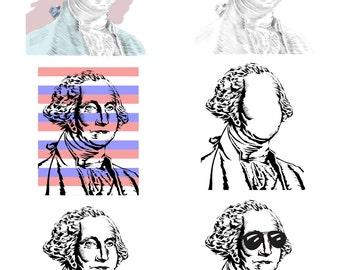 George Washington 8.5 x 11 inch various versions