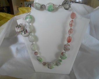 matching necklace bracelet and earring set