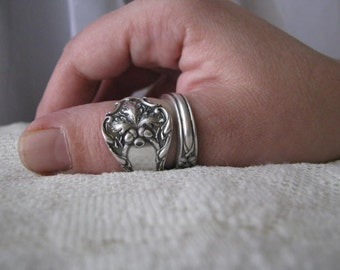 """Spoon Ring, Antique Silver Plated Spoon - """"Charter Oak"""" by 1847 Rogers, 1900, Super Highly Collectible"""