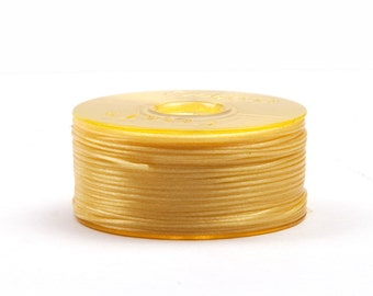 Nymogarn ø 0.15 mm x 44.5 m, * yellow ·. Extremely tear-resistant bead yarn for thread work - NY0215