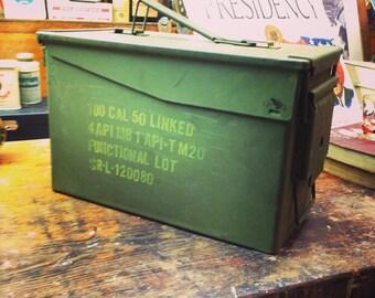 Vintage US Military Ammunition Box