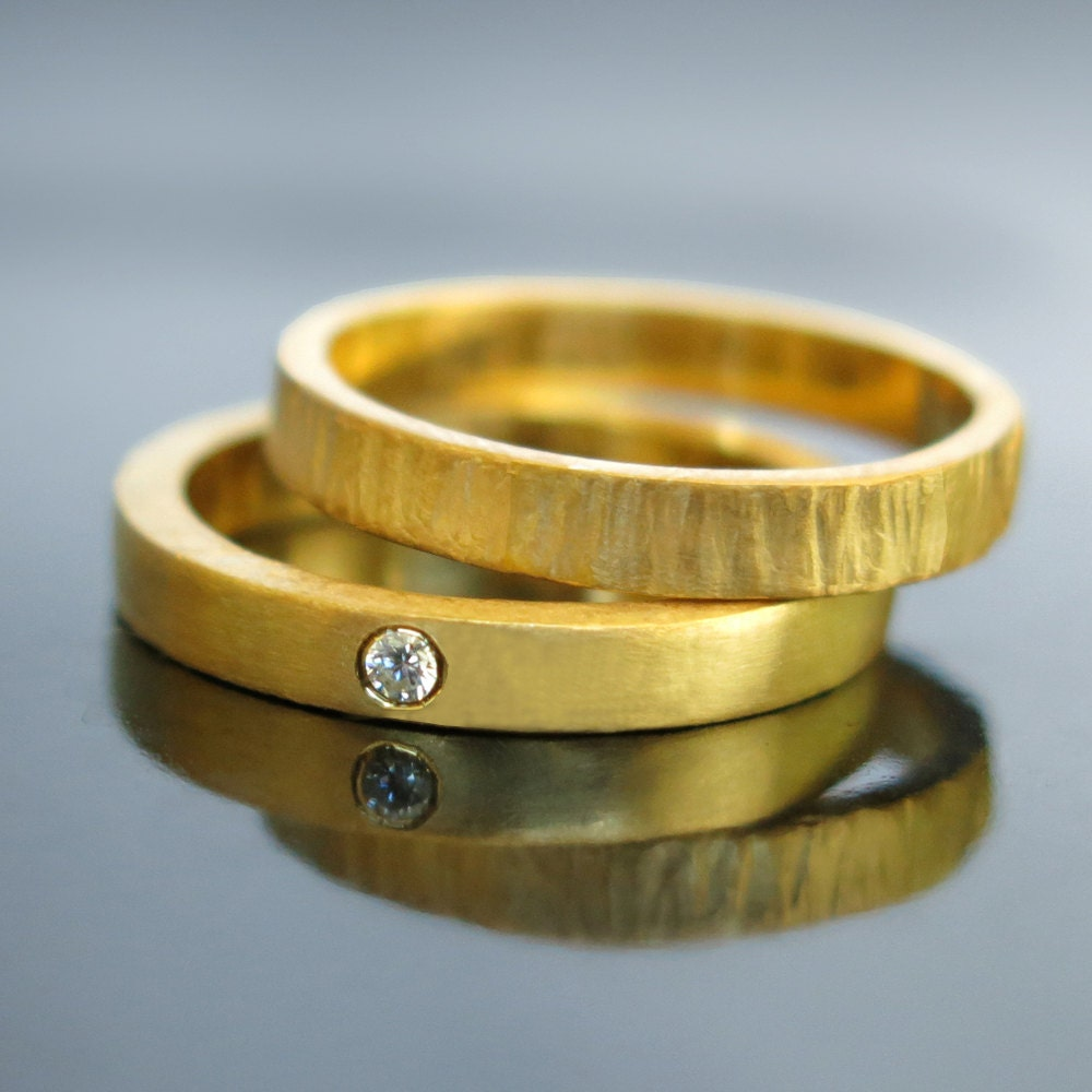 unique wedding ring set his and hers wedding rings 14k 18k