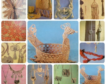 Macrame, Set of 12 Soviet Unused Photo Postcards, Tutorial, Patterns, Lenizdat, 1987