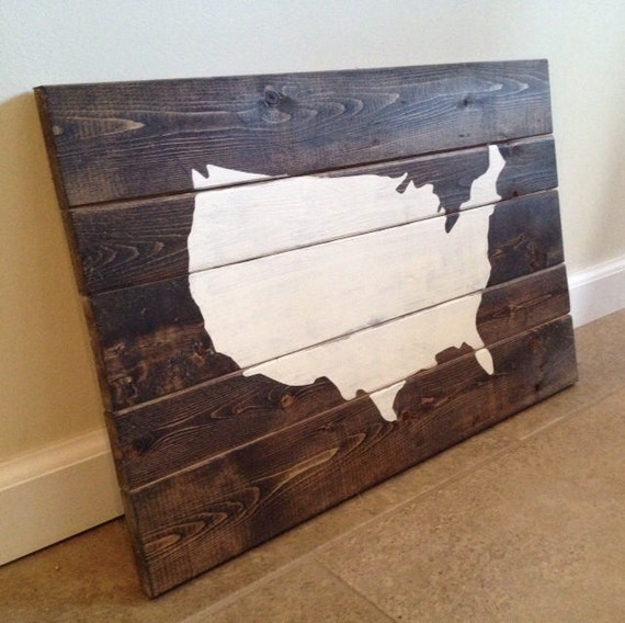 United States Map Wood Wall Art