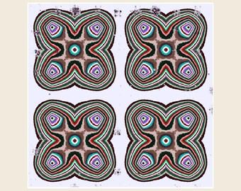 Abstract Wall Art Print - Modern Art Print - Geometric Pattern, Brown, White, Purple, Graphic print