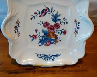 Wedgwood Williamsburg Potpourri Cake Plate Dessert Plate Serving Plate