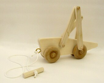Wooden Grasshopper Pull Toy—Running | Kids' Pull Toy - Reclaimed wood gift for toddler-boys and girls