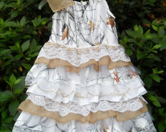 Country Cuties Little girls camo and lace. Something different for Weddings, Parties, Pageant or just for fun.Select size below