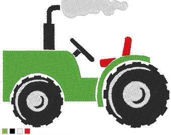 Embroidery Design Tractor With Bow