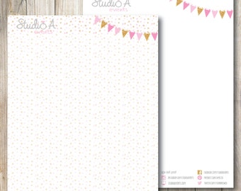 Custom Letterhead - Personalized Letterhead - Made to order!