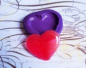 Heart Macaron (L) Silicone Mold (38mm) - Resin Mold, Clay Mold, Fondant Mold, Chocolate Mold, Soap Mold