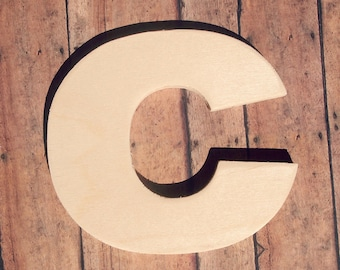 unfinished 8 decorative wooden letter lowercase c 8 inch nursery wall craft alphabet photo prop baltic birch wood